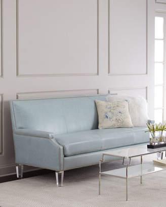 Massoud Tidewater Leather Sofa