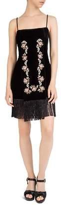 The Kooples Embroidered Velvet Dress