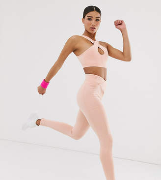 South Beach high waisted leggings in pink