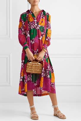 Dodo Bar Or Vyan Floral-print Cotton-voile Midi Dress - Pink