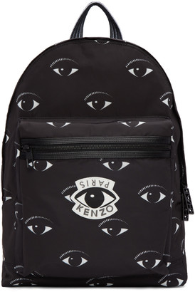 Kenzo Black Allover Eye Backpack $360 thestylecure.com