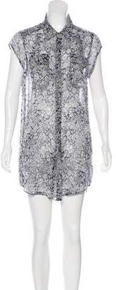 Charlie by Matthew Zink Printed Silk Dress
