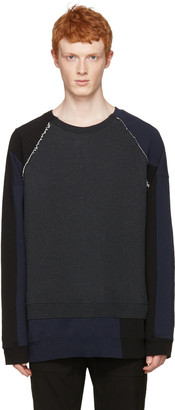 Maison Margiela Tricolor Reasembled Pullover $725 thestylecure.com