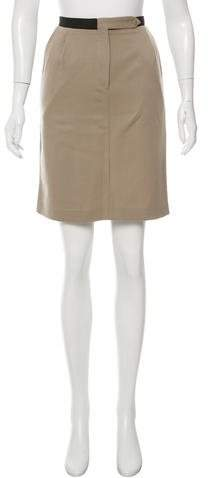 Bottega Veneta Bottega Veneta Pleat-Accented Knee-Length Skirt