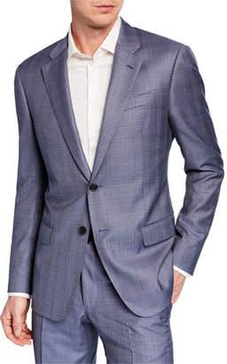 Emporio Armani Men's G Line Super 140s Wool Plaid Two-Piece Suit