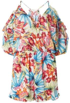 Dorothy Perkins Womens *DP Beach Ivory Tropical Print Playsuit