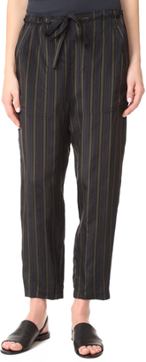 Vince Regiment Stripe Paper Bag Waist Pants $375 thestylecure.com