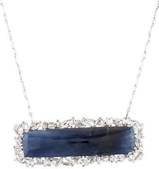 Suzanne Kalan 18K Sapphire & Diamond Fireworks Pendant Necklace
