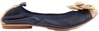 Chanel Navy Leather Ballet flats