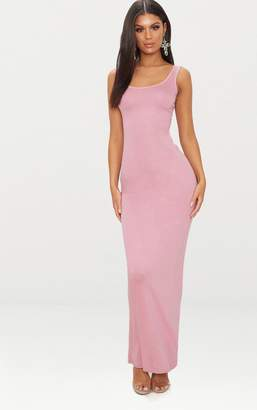 PrettyLittleThing Basic Dusty Pink Maxi Dress