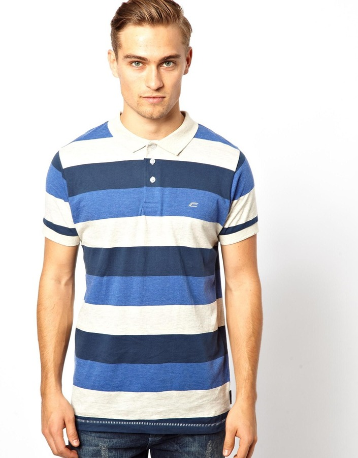 French Connection Polo Even Stripe