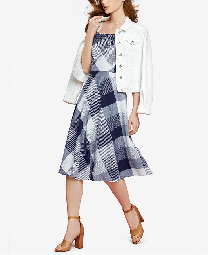 Maison Jules Plaid Midi Dress, Only at Macy's 2