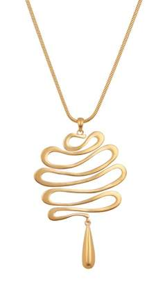 Trina Turk Wavy Pendant Necklace