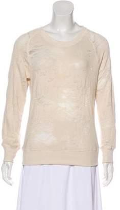 IRO Distressed Nona Crew Neck Sweatshirt