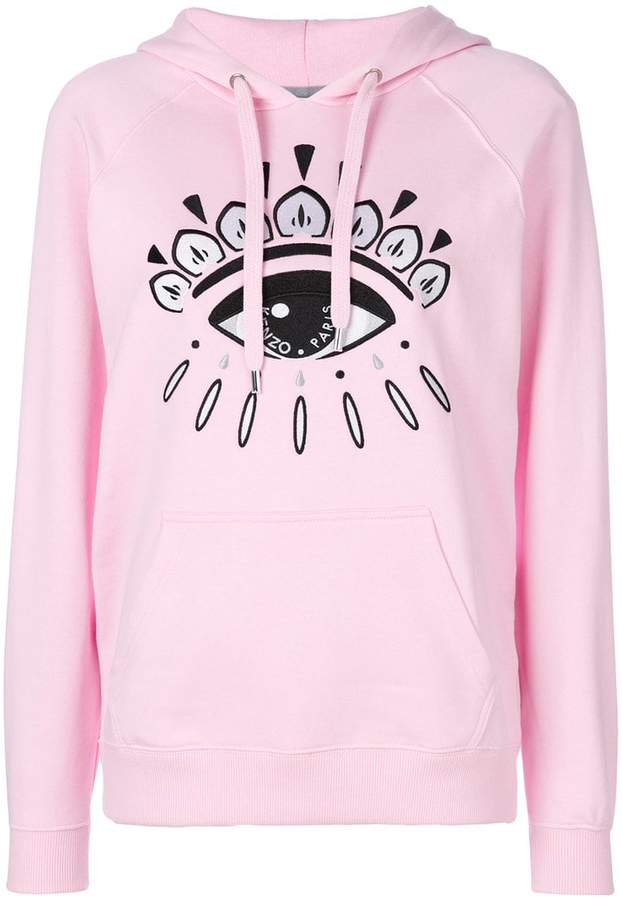 eye motif hoody