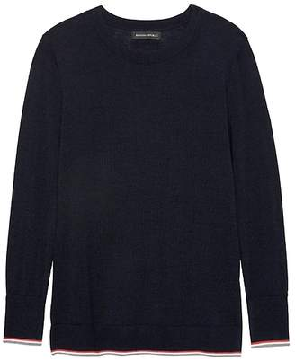 Banana Republic Petite Machine-Washable Merino Wool Crew Sweater