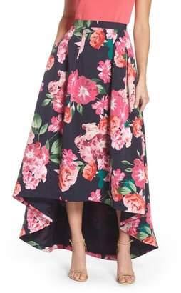Eliza J Floral High/Low Skirt