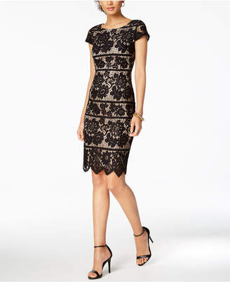 Jessica Howard Short-Sleeve Lace Dress