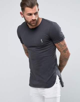 Religion t-shirt with step hem