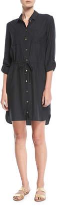 Heidi Klein Maine Mini Shirtdress Coverup