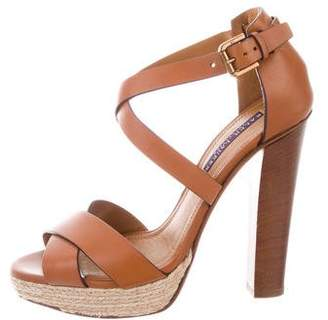 Ralph Lauren Platform Espadrille Sandals