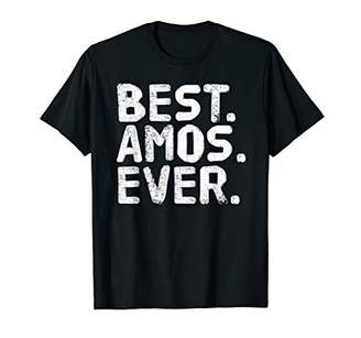 IDEA BEST. AMOS. EVER. Funny Personalized Name Joke Gift T-Shirt