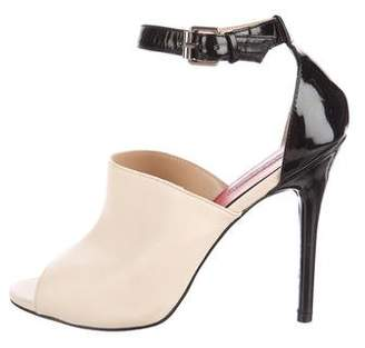 Charles Jourdan Leather Ankle Strap Sandals