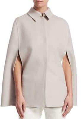 Loro Piana Short Royal Ascot Cashmere Slit-Sleeve Bicolor Cape