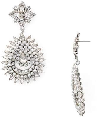 Dannijo Lea Pavé Starburst Drop Earrings