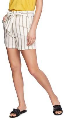 1 STATE 1.STATE Cabana Stripe Tie-Waist Shorts