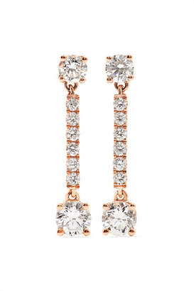 Anita Ko Emma 18-karat Rose Gold Diamond Earrings