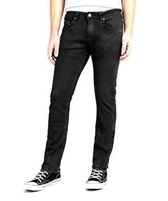 Buffalo David Bitton Men's Max-x Skinny Fit Veined and Coated Wash Fashion Denim Pant