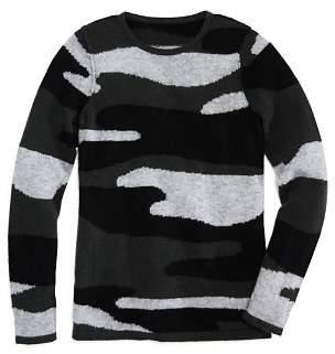 Aqua Girls' Camo-Print Cashmere Sweater, Big Kid - 100% Exclusive