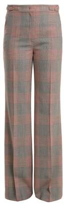 Gabriela Hearst - Vesta Checked Wool Trousers - Womens - Black Red
