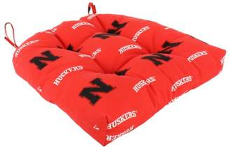 "College Covers Nebraska Cornhuskers Indoor / Outdoor Seat Cushion Patio D Cushion 20"" x 20"", 2 Tie Backs"