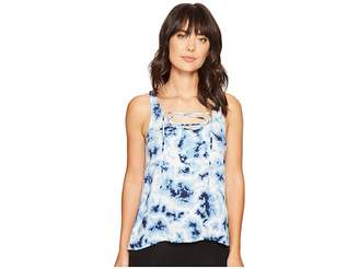 PJ Salvage Blue Batik Tank Top Women's Sleeveless