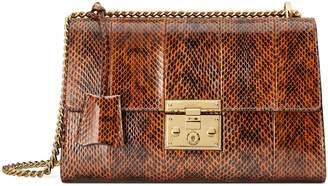 Gucci Medium Padlock - Elaphe Genuine Snakeskin Shoulder Bag