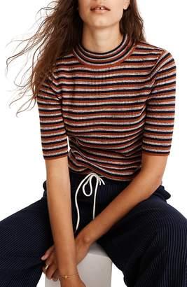 Madewell Dalston Stripe Mock Neck Sweater