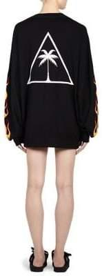 Palm Angels Palms& Flames Wool Crewneck Pullover