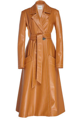 Awake Faux Leather Trench Size: 36
