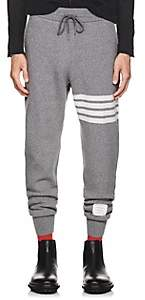 Thom Browne Men's Block-Striped Cashmere-Cotton Sweatpants - Gray