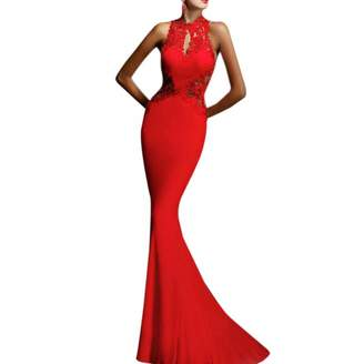 Qiyun Women Prom Evening Party Cocktai Backess Formaong Fishtai Maxi Dress
