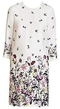 Erdem Women's Emma Floral Silk Shift Dress