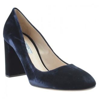 Prada Blue Velvet Heels