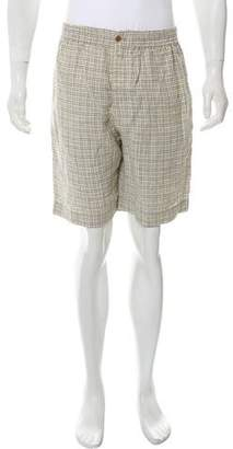 Hermes Plaid Seersucker Shorts