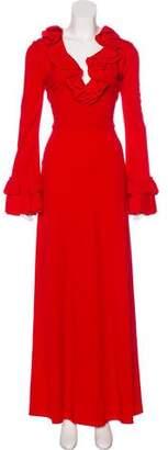 Gucci 2017 Ruffle-Trimmed Dress