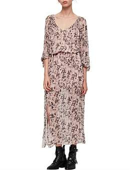 AllSaints Chesca Petal Long Dress