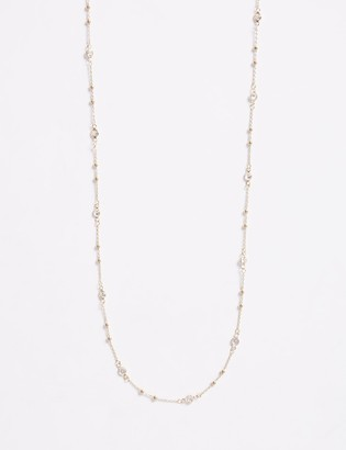 "Lane Bryant 60"" Necklace with CZ"