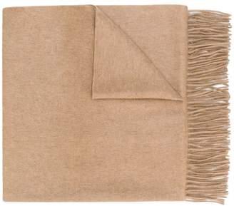 N.Peal fringed shawl scarf