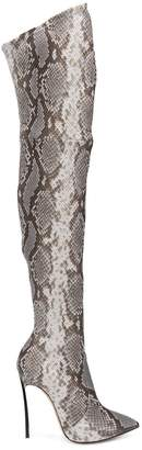 Casadei over the knee animal print boots
